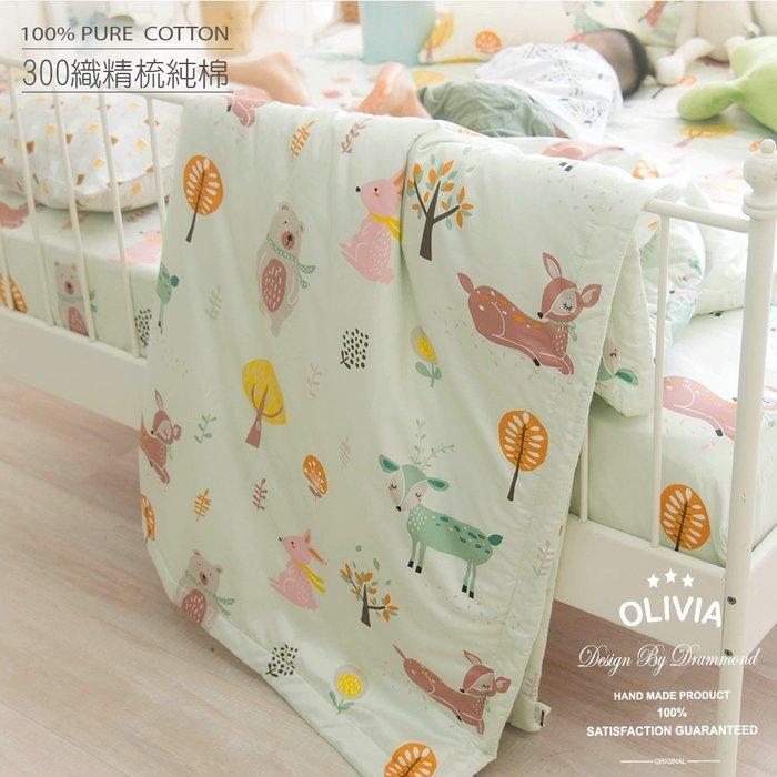 【OLIVIA 】DR920 小森林 綠 標準單人床包夏日涼被三件組 【不含被套】300織精梳純棉 童趣系列 台灣製