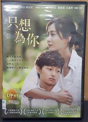 二手DVD專賣店【韓劇-只想為你】全24集 宋允兒 主演 台灣正版二手DVD