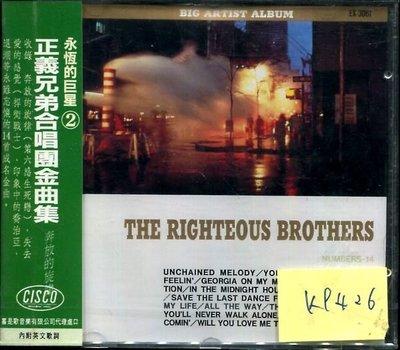 *真音越* RIGHTEOUS BROTHERS 日版 全新 K9426 (下標賣3)
