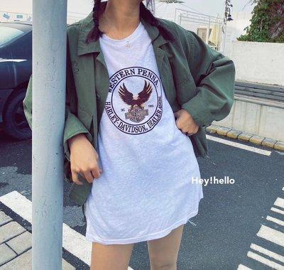(現貨)韓國春夏老鷹印花短袖T恤