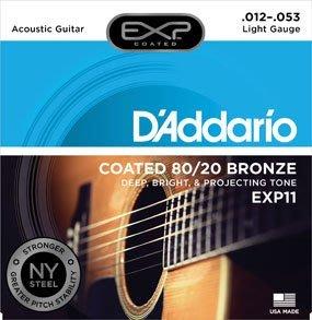 『凱恩音樂教室』免運優惠 Daddario EXP 11 (12-53) 民謠吉他弦 黃銅包覆 木吉他弦 台南市