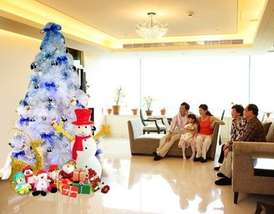 7尺聖誕樹 台灣製 豪華白色松針樹 裸...