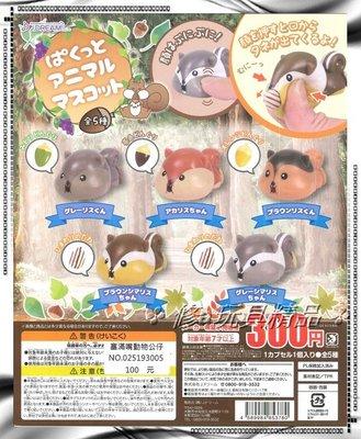 ✤ 修a玩具精品 ✤ ☾日本扭蛋☽ 塞滿嘴動物公仔 全5款 好粗好粗!!(好吃
