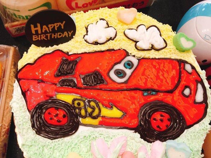 ❤ 歡迎自取 ❥ 雪屋麵包坊 ❥ 車子款式 ❥ 閃電麥昆車車 ❥ 八吋生日蛋糕 ❥❥ 送彩色蠟燭唷
