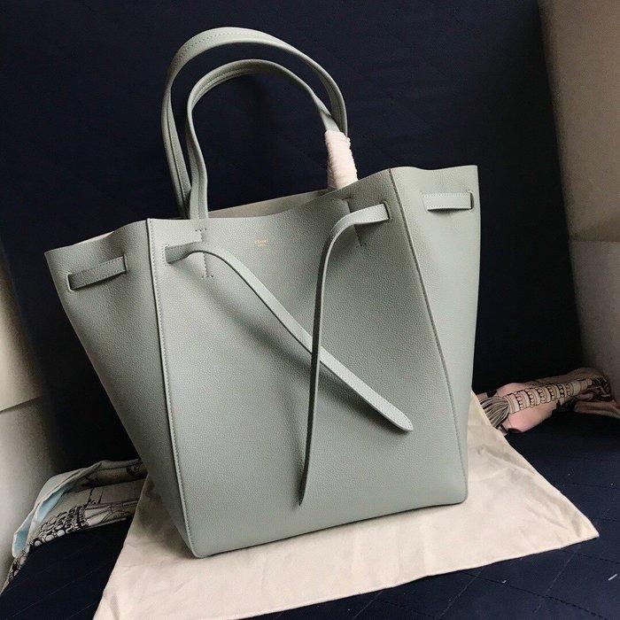 Melia 米莉亞代購 19ss Celine Cabags  phantom 手提購物包 抽繩水桶包 內里磨沙皮 藍灰