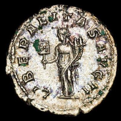 【閒雲雅士】古羅馬銀幣 (#7) — Gordian III / Liberalitas (1780年歷史古銀幣) 保真