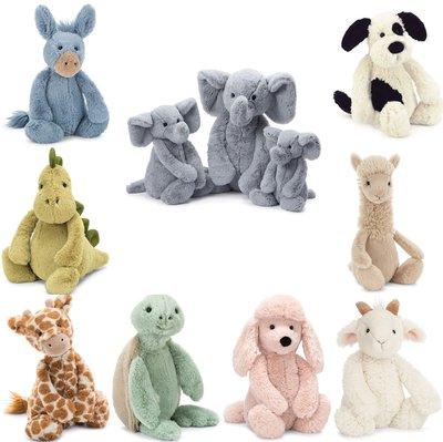 【木星代購】《英美代購 Jellycat Bashful 毛茸茸動物玩偶 12吋 預購》30公分Q版可愛玩偶娃娃多色