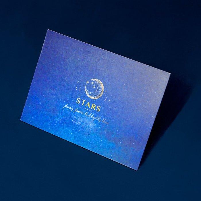 奇奇店-星空星辰賀卡生日小卡片紙質創意手寫禮盒賀卡祝福感恩寄語(尺寸不同價格不同喔)