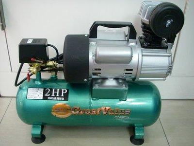 YT(宇泰五金)正100%台灣製Great Value空壓機2HP8公升/附風槍.6米PU管/特價中