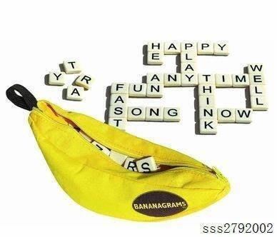 英語 Bananagrams Appletters Scrabble 拼單詞玩具香蕉拼字遊戲  風水擺件