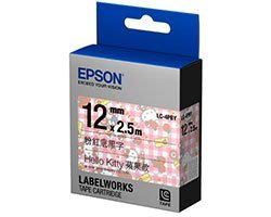 EPSON LC-4PBY標籤帶 (12mm) Hello KITTY 蘋果款 (標籤機LW-200KT/400/500