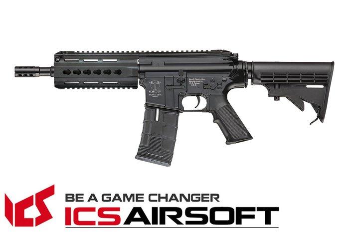 【翔準軍品AOG】ICS CXP-15 K伸縮托(黑)Lightway 電動槍 生存遊戲 ICS-170