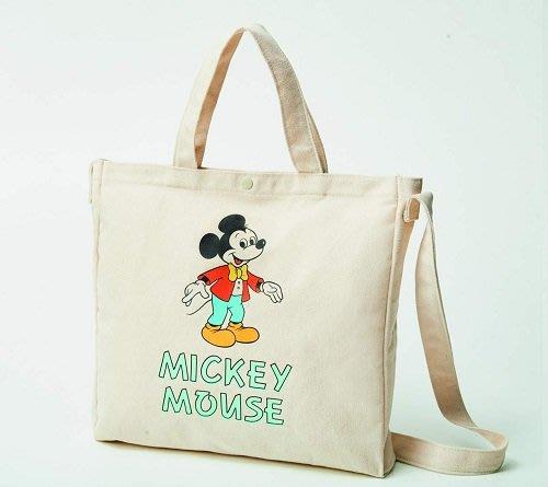☆Juicy☆日本mini雜誌附錄 迪士尼 米奇 托特包 單肩包 單肩背袋 手提袋 斜背包 側背包 郵差包 2118