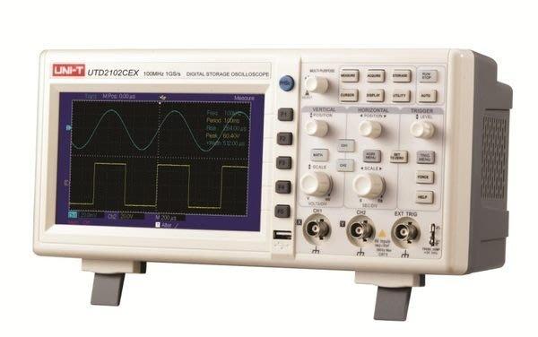 TECPEL 泰菱》100MHz 示波器 7吋 高解析 雙通道 1GS/s 取樣率 UTD-2102CEX UTD2102CEX 優利德 UNI-T 特價