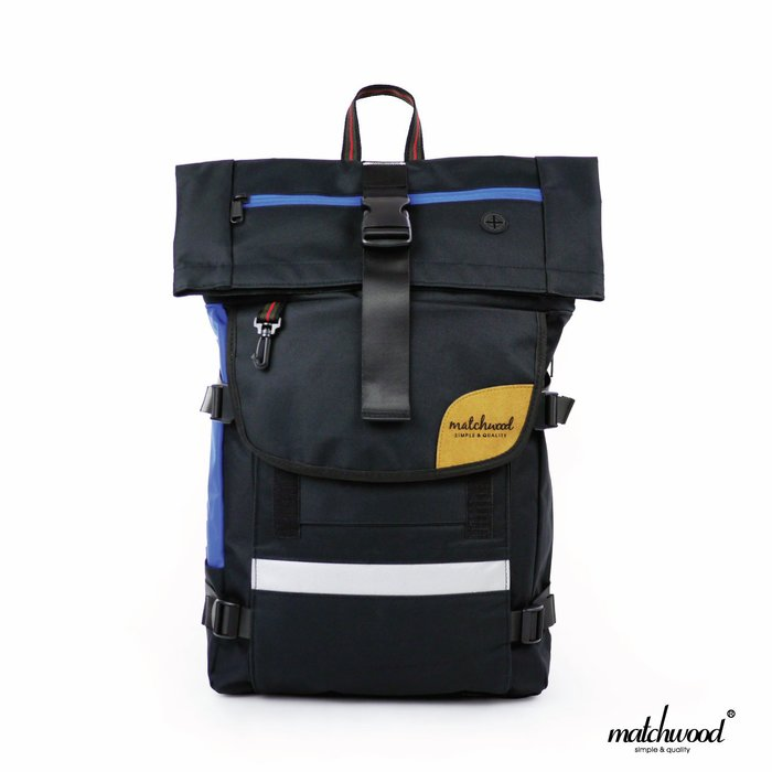 【Matchwood直營】Matchwood Rider 後背包 17吋內筆電夾層 黑藍款 可反光大容量 開學限時優惠