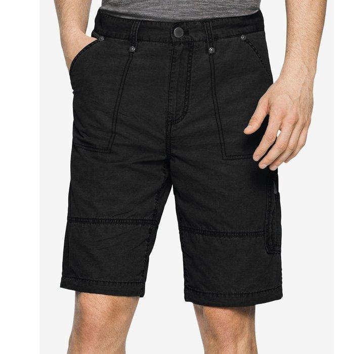 美國百分百【全新真品】Calvin Klein 短褲 CK 休閒褲 褲子 五分褲 工作褲 男褲 飛行員 黑色 G836
