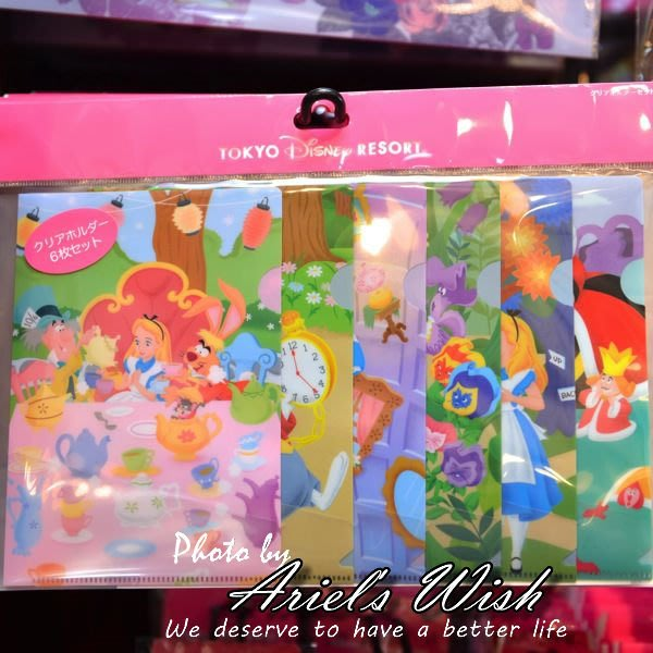 Ariel's Wish-日本Tokyo東京迪士尼Disney愛麗絲Alice時鐘兔子B6資料夾六入組-最後一組在台