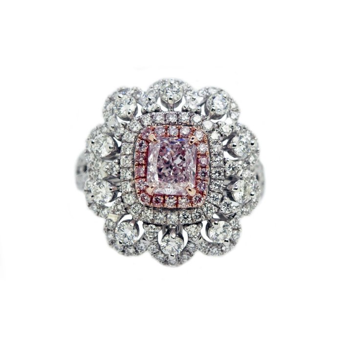 【JHT金宏總珠寶/GIA鑽石專賣】GIA天然粉紅鑽石戒指-1.01ct FP/I1 F118