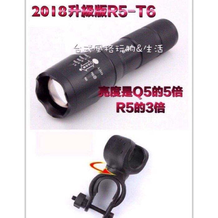 自行車前燈手電筒XML-T6 CRRE -伸縮變焦全新升級套組下殺特惠價
