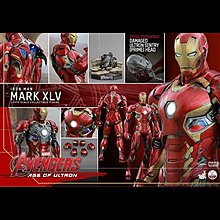 全新啡盒未開 單膠紙 1:4 HOTTOYS Hot toys Iron mark 45 XLV 1/4 ironman special QS 006 會塲版