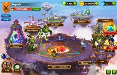 電腦版網頁遊戲 Hero Wars 英雄征戰 帳號,已投資 8萬以上