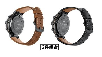 【現貨】ANCASE 2件組合 Asus ZenWatch3 錶帶 真皮錶帶 錶鏈