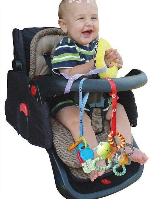 La Vie防掉帶 玩具固定帶 玩具綁帶 奶嘴吊帶 背巾 手推車 餐椅 出遊 汽車 不挑款 約56cm