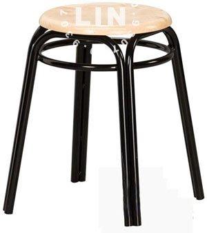 【品特優家具倉儲】A557-06餐椅洽談椅原木加圈雙管椅