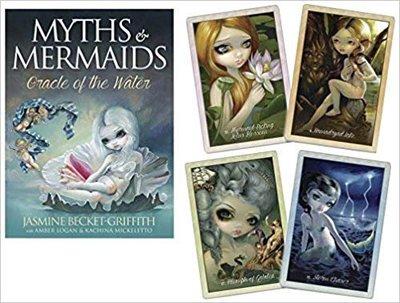 【預馨緣塔羅鋪】正版神話與人魚:水之神諭卡Myths & Mermaids oracle of water(全新45張)