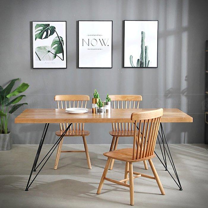 【酷鳥窩】可訂製-LOFT工業風復古幾何線條 細鐵腳 實木桌 復古美式酒吧/餐廳餐桌/北歐咖啡店/民宿客廳餐廳/多人桌