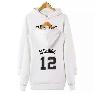 🔥LaMarcus Aldridge長袖連帽T恤上衛衣🔥NBA馬刺隊Nike耐克愛迪達運動籃球衣服大學純棉T男714