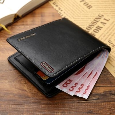 時尚休閒短款橫款男士錢包日韓青年男皮夾軟皮薄版學生錢夾