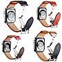 Apple Watch 錶帶 蝴蝶扣 愛馬仕真皮錶帶(送保護貼+保護殼)Watch5 S5 5代 牛皮 替換帶 皮革錶帶