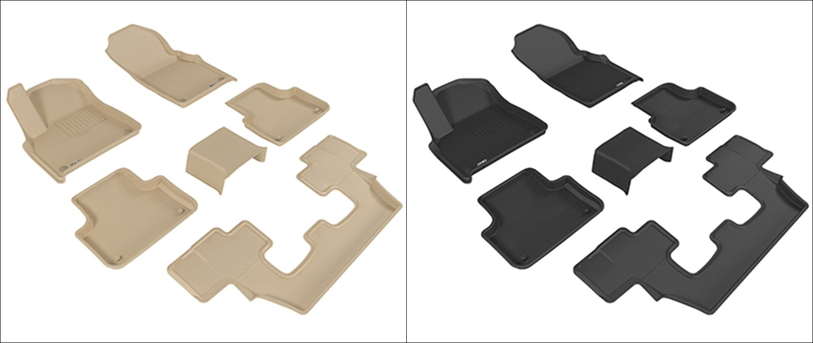 DIP 3D 卡固 立體 腳踏墊 極緻 紋理 防水 Audi Q7 七人座 16+ 專用