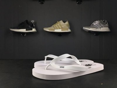 ☆LION販殼☆VANS Logo Slider Flip Flops 人字拖 夾腳 運動休閒 白色 拖鞋