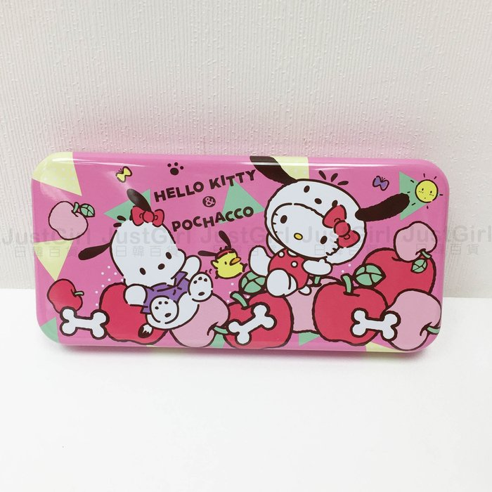 Hello Kitty 凱蒂貓 Sanrio 三麗鷗 帕洽狗 超大 雙層 筆盒 日本進口正版授權 JUST GIRL