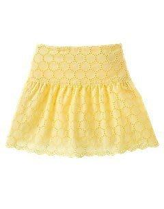 (((出清特價))) 全新 ~ GYMBOREE 黃色eyelet花瓣褲裙 (3yrs)