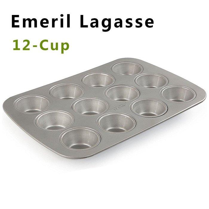 Amy烘焙網:美國EMERIL LAGASSE標準12連瑪芬蛋糕烤盤/杯子蛋糕烤盤/基本款蛋糕模/42公升烤箱適用