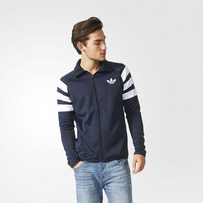 [MR.CH] adidas Originals Trefoil  外套 三葉草 黑/藍 AJ7676 AJ7677
