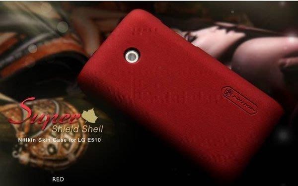日光通訊@NILLKIN原廠 LG E510 Optimus HUB 超級護盾手機殼 抗指紋保護殼 烤漆背蓋硬殼~贈保護貼