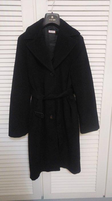 法碼36【MAX & CO】深黑毛呢繭型大衣