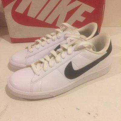 [飛董] Nike W Tennis Classic 白黑 女 黑勾 皮革 基本款 韓妞 百搭 312498-130