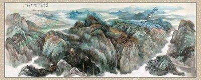 【71*190cm】【卷軸畫】風水畫聚寶盆 山水 極品 已裝裱國畫客廳裝飾畫【180820_133】