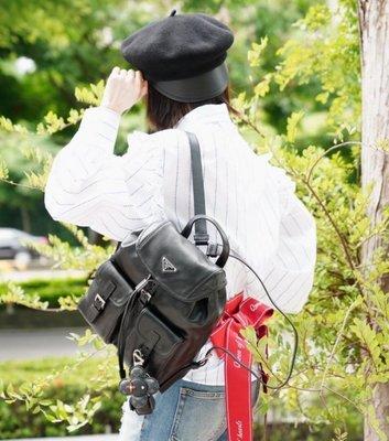 Prada 1BZ677 Backpack 小牛皮後背包 黑