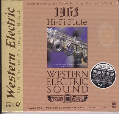 ABC唱片 HD Mastering CD 西電1963Hi-Fi長笛 //Jean-Pierre Rampal,flute//無壓縮音樂