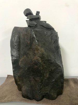 石雕 太極大型 功夫太極石雕 張德全大師 鐵丸石 石雕太極 有落款