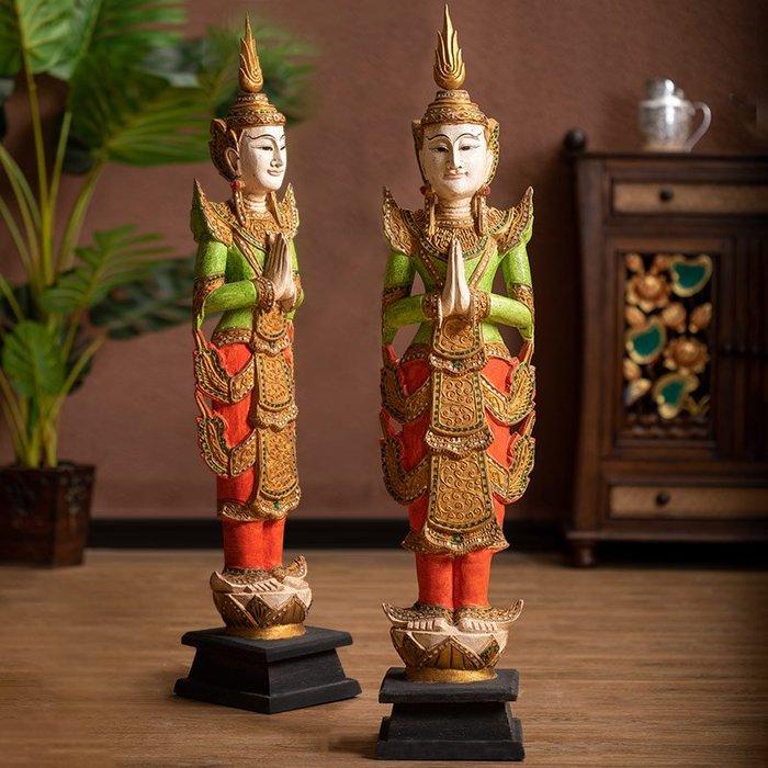 裝飾擺件 裝飾品 異麗泰國泰佛迎賓落地大擺件東南亞酒店會所別墅門廳裝飾擺設品