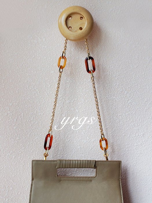 淘淘樂-經典款琥珀壓花銅鏈條小香老花包包通用替換肩改造帶單肩斜挎包帶