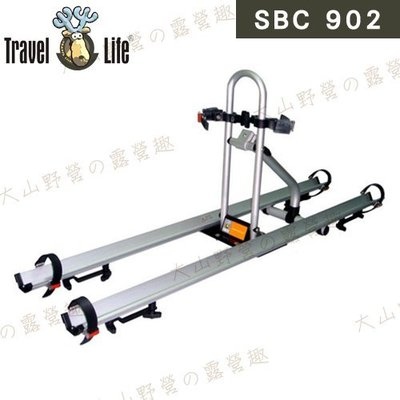 【大山野營】安坑特價 Travel Life 快克 SBC902 車頂鋁槽式攜車架 自行車架 單車架 腳踏車架 車頂架