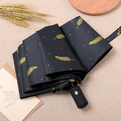 傘-韓國全自動雨傘男女小清新文藝簡約折疊晴雨兩用太陽傘森系-